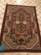 Handwoven Galoui New Rug Morocc0 (44 x 62)