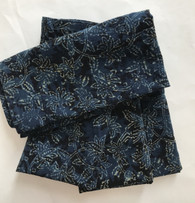 """Hand Block Printed Natural Dyed Cotton Napkins 2 India Set of 4 (18""""x 18"""")"""