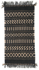 "Handwoven Camel Yarn Rug Natural Fleece Colors India (24"" x 48)"""