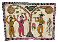 """Handstitched Dancers Kantha India (6.25' x 8.5"""")"""