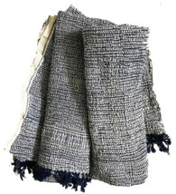 "Handwoven Organic Cotton Scarf or Hand Towel India (16"" x 50"")"