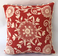"Peru Woolen Hand Woven and Embroidered Pillow (16"" x 16"")"