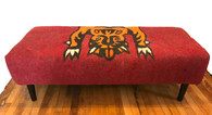 """Handmade Wool Felt Tiger Bench Afghanistan (21""""W x 52"""""""")"""