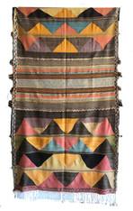 """Handwoven Flat Weave Diamond Wool Rug Morocco (57"""" x 94"""")"""