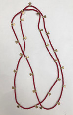 Brass Fans and Bead Long Fine Necklace India