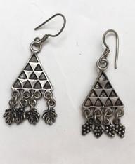 """Vintage Silver Earrings Morocco (.75"""" wide x 2.25"""" long)"""