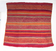 """Handwoven Woolen Blanket Frazada of Peru (53"""" x 58"""")"""