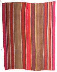 """Handwoven Woolen Blanket Frazada of Peru (62"""" x 68"""")"""