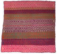 """Handwoven Woolen Rug Frazada of Peru (63"""" x 63"""")"""