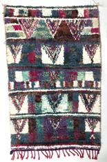 "Handwoven Boucherouite Rug 6 Morocco (38"" x 60"")"