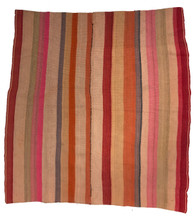 """Handwoven Woolen Blanket Frazada of Peru (58"""" x 60"""")"""