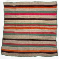"""Handwoven Woolen Blanket Frazada of Peru (54"""" x 57"""")"""