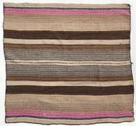 """Handwoven Woolen Blanket Frazada of Peru (58"""" x 56"""")"""