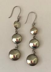 """Silver Circle Earrings Peru (2"""" L x .5"""" w)"""