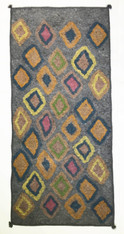 "Handmade Wool Felt  Diamonds Runner Rug Afghanistan (30"" x 72"")"