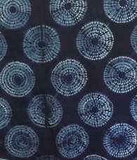 "Handmade Natural Dyed Indigo Tie Dyed Cotton By the Yard India (42"" wide)"