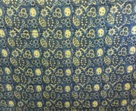 "Block Printed Natural Dyed Cotton By the Yard D India (42"" wide)"