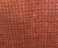 "Block Printed Natural Dyed Cotton By the Yard H India (42"" wide)"