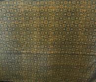 "Block Printed Natural Dyed Cotton By the Yard G India (42"" wide)"