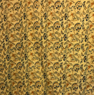 """Handwoven Organic Cotton Natural Dyed Bird Fabric India (44"""" wide)"""