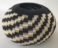 "Handmade Natural Fiber Wounaan Basket 2 Colombia  (8.5""w x  5.5T"")"