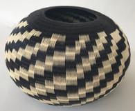 "Handmade Natural Fiber Wounaan Basket 2 Colombia  (8.5""w x  5.5T"")"