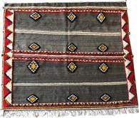 "Handwoven Glaoui Wool Rug  3 Morocco (63"" x 52"")"
