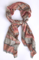 "Pashmina fine wool  Striped Scarf India (28"" x 80"")"