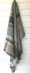 "Woven Alpaca Striped Throw Ecuador (48"" x 66"")"