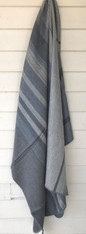 "Woven Alpaca Striped Throw Grey Ecuador (48"" x 66"")"