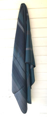 "Woven Alpaca Striped Throw Blues Ecuador (48"" x 66"")"
