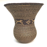 "Handmade Natural Fiber Ye'kwana Basket Venezuela 10 (6"" T x 6.5""W)"
