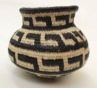 "Handmade Natural Fiber Wounaan Basket  2 Panama  (3"" wide x  3"" tall)"