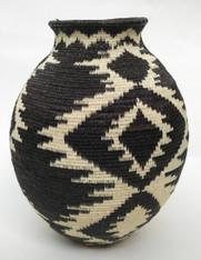 "Handmade Natural Fiber Wounaan Basket  5 Panama  (3.25"" wide x  4.5"" tall)"