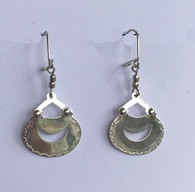 "Handmade Silver Earrings Chile (1.75"" x .8"")"