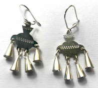 "Handmade Silver Earrings Chile (1.5"" x .6"")"