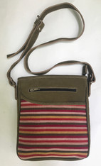 "Handwoven Cross Shoulder Purse Striped Guatemala  (10""x 9"")"