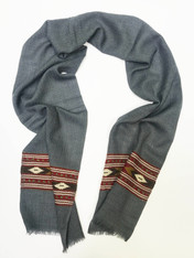 "Handwoven Fine Wool Scarf India (10"" x  64"")"