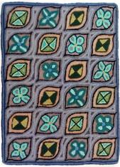 "Handmade Hooked Rug by Bartola Guatemala (24"" x 32"")"