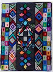 "Handmade Hooked Medium Bird Rug by Juana Guatemala (24"" x 32"")"