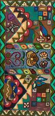 "Handmade Large Hooked Rug by Carmen Guatemala (24"" x 48"")"