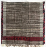 "Handwoven Yak and Wool Throw India (42"" x 86"")"