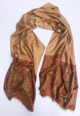 "Silk and Wool Scarf Shawl India (29"" x  78"")"