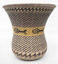 "Handmade Natural Fiber Ye'kwana Basket Venezuela (8.75""  x 8.5"")"