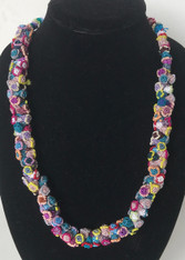"Hand Knotted Button Bead Necklace D Morocco (12"" drop)"