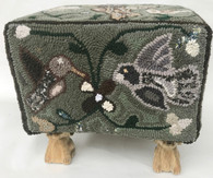 Handmade Multicolores Foot Stool 2 Guatemala  (13.5t x 14.5 w)