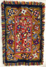 "Handwoven and Embroidered Wool Wall Hanging Peru (27"" x 40"")"
