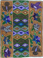 "Handmade Rug by Nicolasa Medium Guatemala (24"" x 32"")"