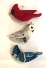 Handmade Wool Felt Northern Bird Collection Nepal