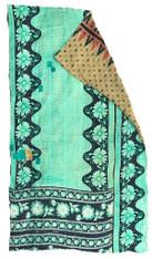 """Kantha Quilt Vintage Sari India 2 (49"""" x 84"""")"""